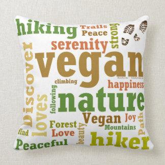 Vegan Hiker Hiking Serenity Throw Pillow