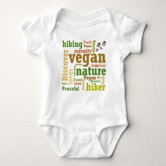 Vegan Hiker Hiking Word Cloud Baby Bodysuit