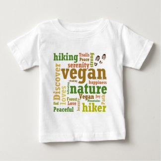 Vegan Hiker Hiking Word Cloud Baby T-Shirt