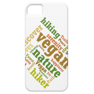 Vegan Hiker Hiking Word Cloud iPhone 5 Covers