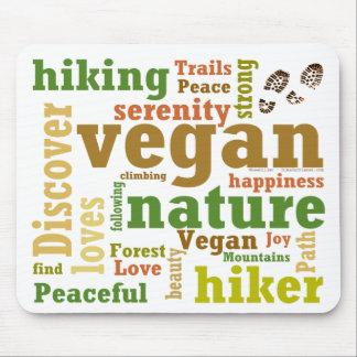 Vegan Hiker Hiking Word Cloud Mouse Pad