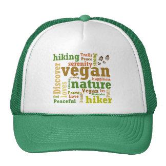 Vegan Hiker Hiking Word Cloud Trucker Hat