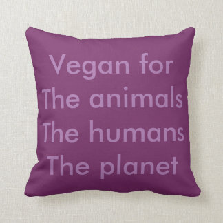 Vegan is freedom throw pillow