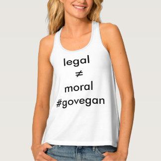 vegan is moral tank top