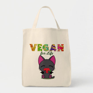 Vegan Kitty Organic Cotton Grocery Tote