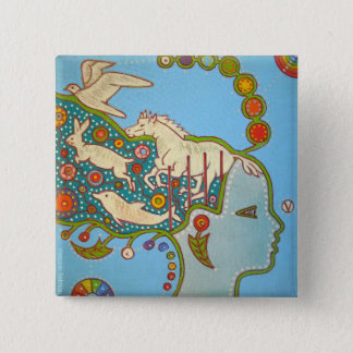 Vegan liberty animals swipes in 2 inch square button