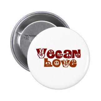 Vegan Love 2 Inch Round Button