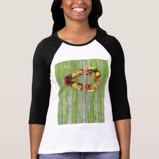 VEGAN LOVE -  <3 Smart Heart Green Wall Wood T-Shirt