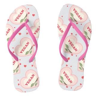 Vegan Love Flip Flops