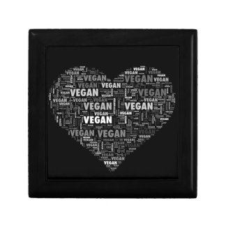 Vegan love heart design gift box