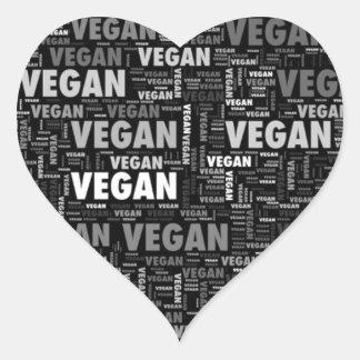 Vegan love heart design heart sticker