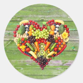 VEGAN LOVE -  your Heart Classic Round Sticker