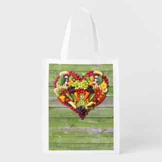 VEGAN LOVE -  your Heart Reusable Grocery Bag