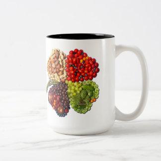 VEGAN Lucky Charm Clover Two-Tone Coffee Mug