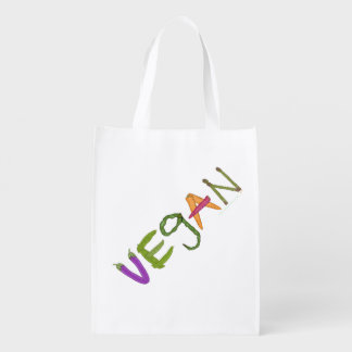 Vegan Made By Vegetables Reusable Grocery Bag