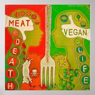 Vegan meatus gold life Poster