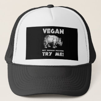 Vegan Mighty Rhino Healthy Lifestyle Cool Funny Trucker Hat