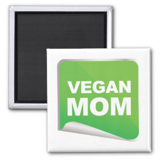 Vegan Mom Label Magnet