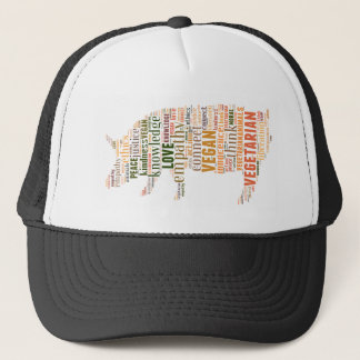 Vegan mosaic trucker hat
