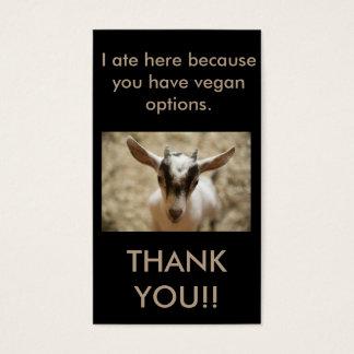 Vegan Outreach Thank You Cards