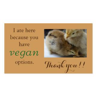 Vegan Outreach Thank You Cards Business Card