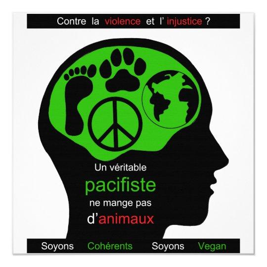 vegan pacifist card