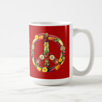 Vegan Peace and Love Coffee Mug