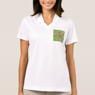 Vegan Peace Green Wood Polo Shirt