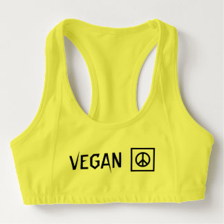 VEGAN PEACE SIGN SPORTS BRA