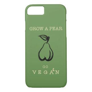 Vegan phone case. Grow a pear design. iPhone 7 Case