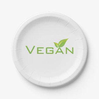 Vegan Plates 7 Inch Paper Plate