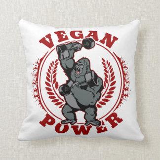 Vegan Power Bodybuilder Gorilla Throw Pillow