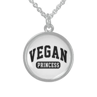 Vegan Princess Sterling Silver Necklace