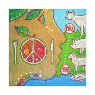 Vegan punt stretched canvas print