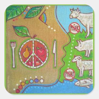 Vegan punt square sticker