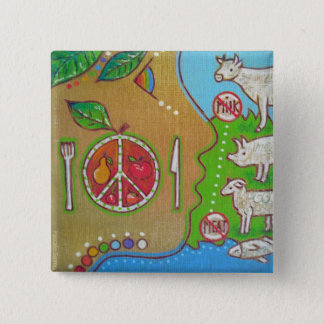 Vegan punt swipes in 2 inch square button