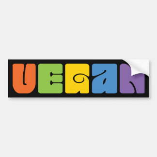 Vegan Rainbow Bumper Sticker