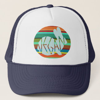 Vegan Rainbow Bunny  Trucker Hat