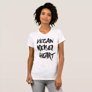 Vegan Rebel Heart T-shirt
