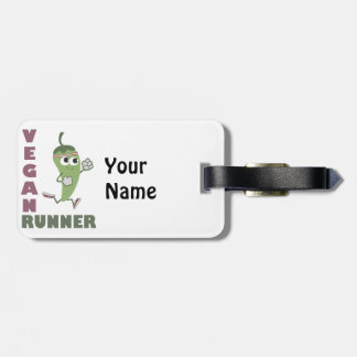 Vegan Runner - Running Pepper Luggage Tag