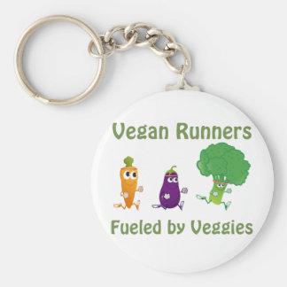 Vegan Runners - fueled by Veggies Basic Round Button Keychain