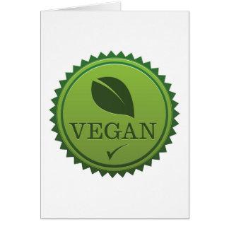 Vegan Seal Card
