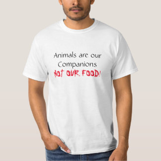Vegan Shirt Animals are our Companions Tee