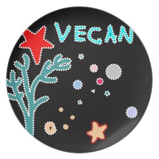 vegan starfish ocean plate