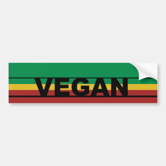 Vegan Stripes Bumper Sticker