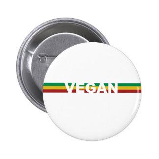 Vegan Stripes Rasta 2 Inch Round Button