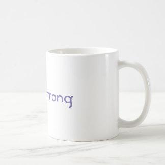 """""""Vegan Strong"""" coffee mug"""