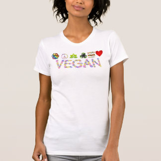 Vegan * Symbols of Love, Peace and Compassion T T-Shirt