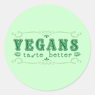 Vegan Taste Classic Round Sticker