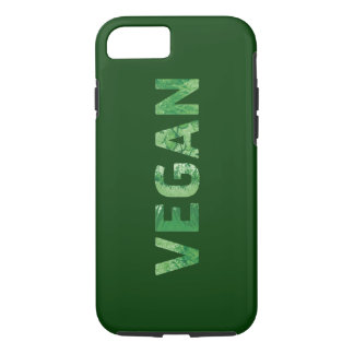 Vegan Text Art - Happy Quote iPhone 7 Case